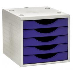 Archivador modular archivotec serie 4000 ref. 4005 de 5 cajones en color gris / malva.
