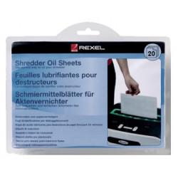 Hojas de aceite lubricante para destructoras de papel rexel en formato din a-5, blister de 20 uds.