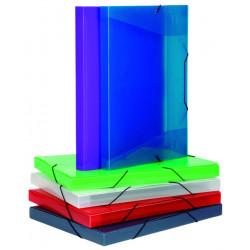 Carpeta de proyectos en polipropileno con gomas y lomo de 30 mm. cool-box viquel en din a-3 de colores surtidos.