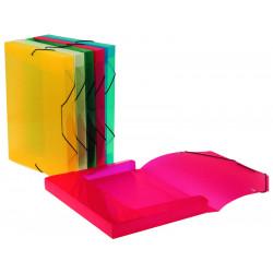Carpeta de proyectos en polipropileno con gomas y lomo de 30 mm. cool-box viquel en din a-4 de colores surtidos.