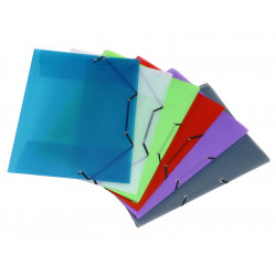 Carpeta de gomas en polipropileno con solapas y lomo de 30 mm. viquel en din a-3 de colores surtidos.