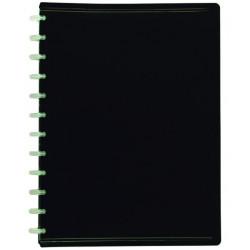 Carpeta de polipropileno con 30 fundas transparentes extraibles viquel en din a-4 de color negro.