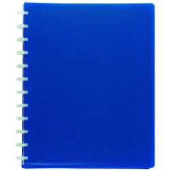 Carpeta de polipropileno con 30 fundas transparentes extraibles viquel en din a-4 de color azul.