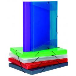 Carpeta de proyectos en polipropileno con gomas y lomo de 30 mm. viquel cool-box en din a-5 de colores surtidos.