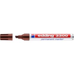 Marcador permanente edding 3300 marrón.