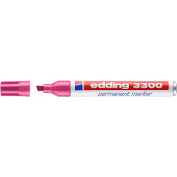 Marcador permanente edding 3300 rosa.