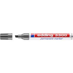 Marcador permanente edding 3300 gris.