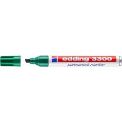 Marcador permanente edding 3300 verde.