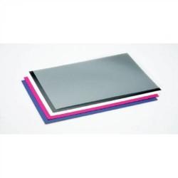 Paquete de 100 tapas de encuadernar gbc en din a-4 de cartoncillo símil piel de 250 grs. en color rojo.