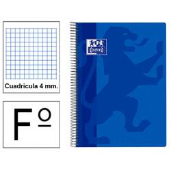 Cuaderno espiral tapa extradura oxford classic en formato folio, 80 hj. 90 grs. 4x4 c/m. 6 colores vivos surtidos.