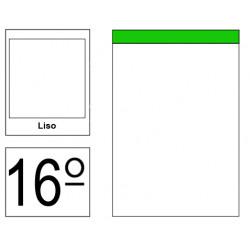 Bloc de notas, lomo encolado, perforado, sin tapa liderpapel en formato 16º, 80 hj. 60 grs. liso s/m.