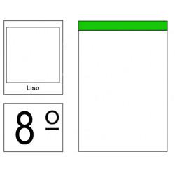 Bloc de notas, lomo encolado, perforado, sin tapa liderpapel en formato 8º, 80 hj. 60 grs. liso s/m.