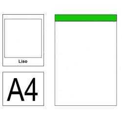 Bloc de notas, lomo encolado, perforado, sin tapa liderpapel en formato din a-4, 80 hj. 60 grs. liso s/m.