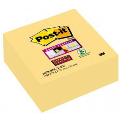 Cubo de 270 notas adhesivas 3m post-it super sticky 76x76 mm. color canary yellow.