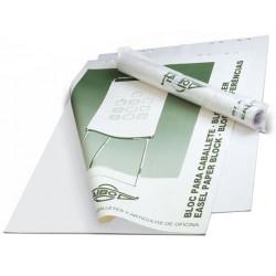Bloc de papel liso para caballete de convención faibo de 65x90 cm. bolsa individual de 50 hojas.
