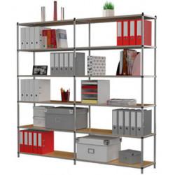 Estanteria modular metálica Paperflow 6 estantes módulo inicial.