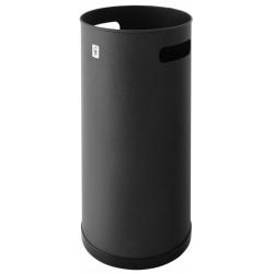 Paragüero metálico cilindro con 2 asas laterales en color negro.