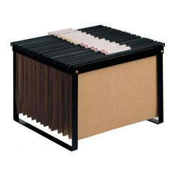 Soporte para carpetas colgantes de visión superior en din a-4 y folio q-connect en color negro.