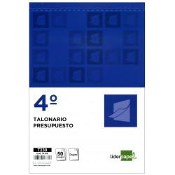 Talonario presupuesto original y copia liderpapel en formato 4º natural de 144x210 mm.