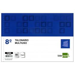 Talonario multiuso original y copia liderpapel en formato 8º apaisado de 155x105 mm.