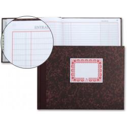 Libro miquelrius cartoné caja (entrada y salida) en formato 4º apaisado, 100 hj. 70 grs.