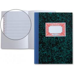 Libro miquelrius cartoné rayado horizontal en formato 4º natural, 100 hj. 70 grs.