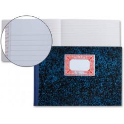 Libro miquelrius cartoné de rayado horizontal en formato Fº apaisado, 100 hj. 70 grs.