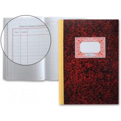 Libro miquelrius cartoné registro facturas emitidas en formato Fº natural, 50 hj. 70 grs.
