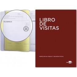 Libro de registro de visitas en castellano liderpapel en formato din a-4.