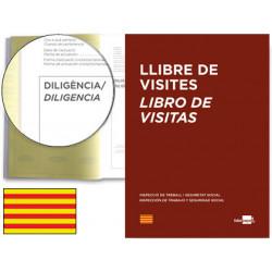 Libro de registro de visitas en castellano/catalán liderpapel en formato din a-4.