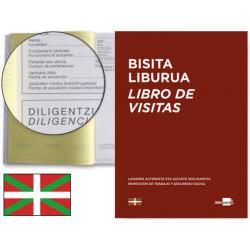 Libro de registro de visitas castellano/euskera liderpapel en formato din a-4.