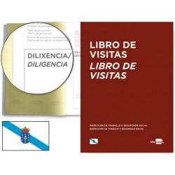 Libro de registro de visitas castellano/gallego liderpapel en formato din a-4.