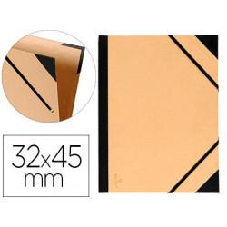 Carpeta de gomas sencilla en cartón kraft canson tendence en formato 32x45 cm. color kraft.