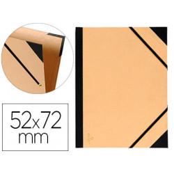 Carpeta de gomas sencilla en cartón kraft canson tendence en formato 52x72 cm. color kraft.