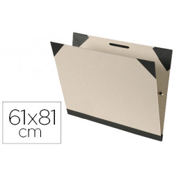 Carpeta de gomas sencilla en cartón kraft canson brut en formato 61x81 cm. color kraft claro.