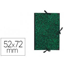 Carpeta de gomas sencilla en cartón kraft canson classic en formato 52x72 cm. color mármol verde.