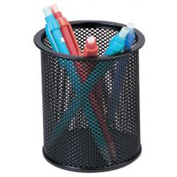Cubilete portalápices Q-Connect metálico de rejilla en color negro.
