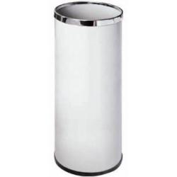 Paragüero metálico sie 301 de 20 litros de capacidad en color blanco.