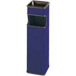 Cenicero - papelera Sie 403 cuadrada de 24 litros de capacidad en color azul.