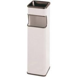 Cenicero - papelera Sie 403 cuadrada de 24 litros de capacidad en color blanco.