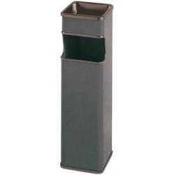Cenicero - papelera Sie 403 cuadrada de 24 litros de capacidad en color gris metálizado..