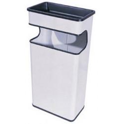 Cenicero - papelera Sie 406 cuadrada de 40 litros de capacidad en color blanco.