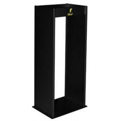 Cenicero metálico de pié para exteriores sie 407 de 77x30x24,5 cm. color negro.