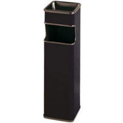 Cenicero - papelera Sie 403 cuadrada de 24 litros de capacidad en color negro.