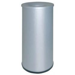 Papelera metálica ignífuga con tapa sie 115 de Ø 27,5x65 CM. 39 litros. color gris.