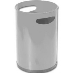 Papelera metálica con asas sie 101 de Ø 21,5x31,5 cm. 12 litros. color gris.