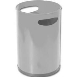 Papelera metálica con asas sie 101 de Ø 21,5x31,5 cm. 12 litros. color plata.