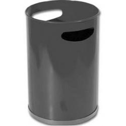 Papelera metálica con asas sie 101 de Ø 21,5x31,5 cm. 12 litros. color negro.