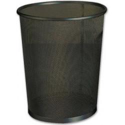 Papelera metálica de rejilla q-connect de Ø 19x26 cm. 8,3 litros. color negro.