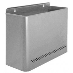 Papelera metálica de pared sie 99 de 32,5x12,5x28,5 cm. 11 litros. color gris.